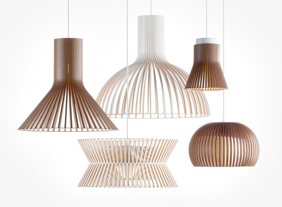 Secto Design lamps are produced in large quantities yet maintaining the artisanal touch.