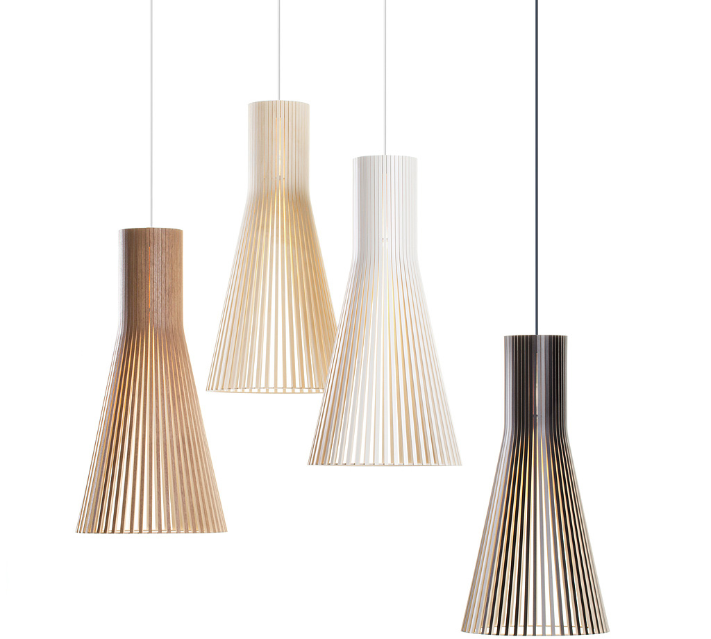 Secto 4200 Wooden Modern Pendant Lamp Design