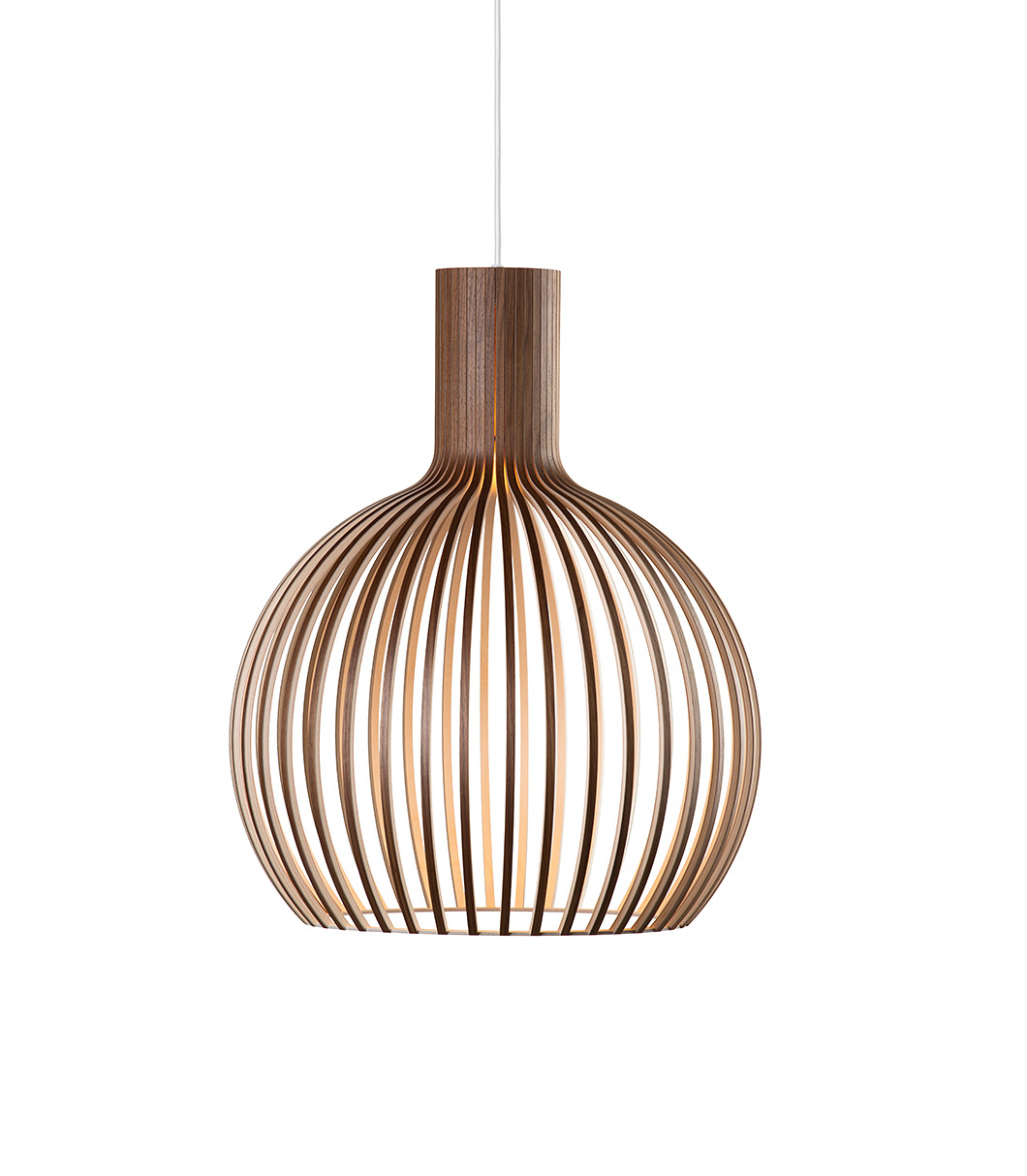 Octo Small 4241 pendant lamp color walnut