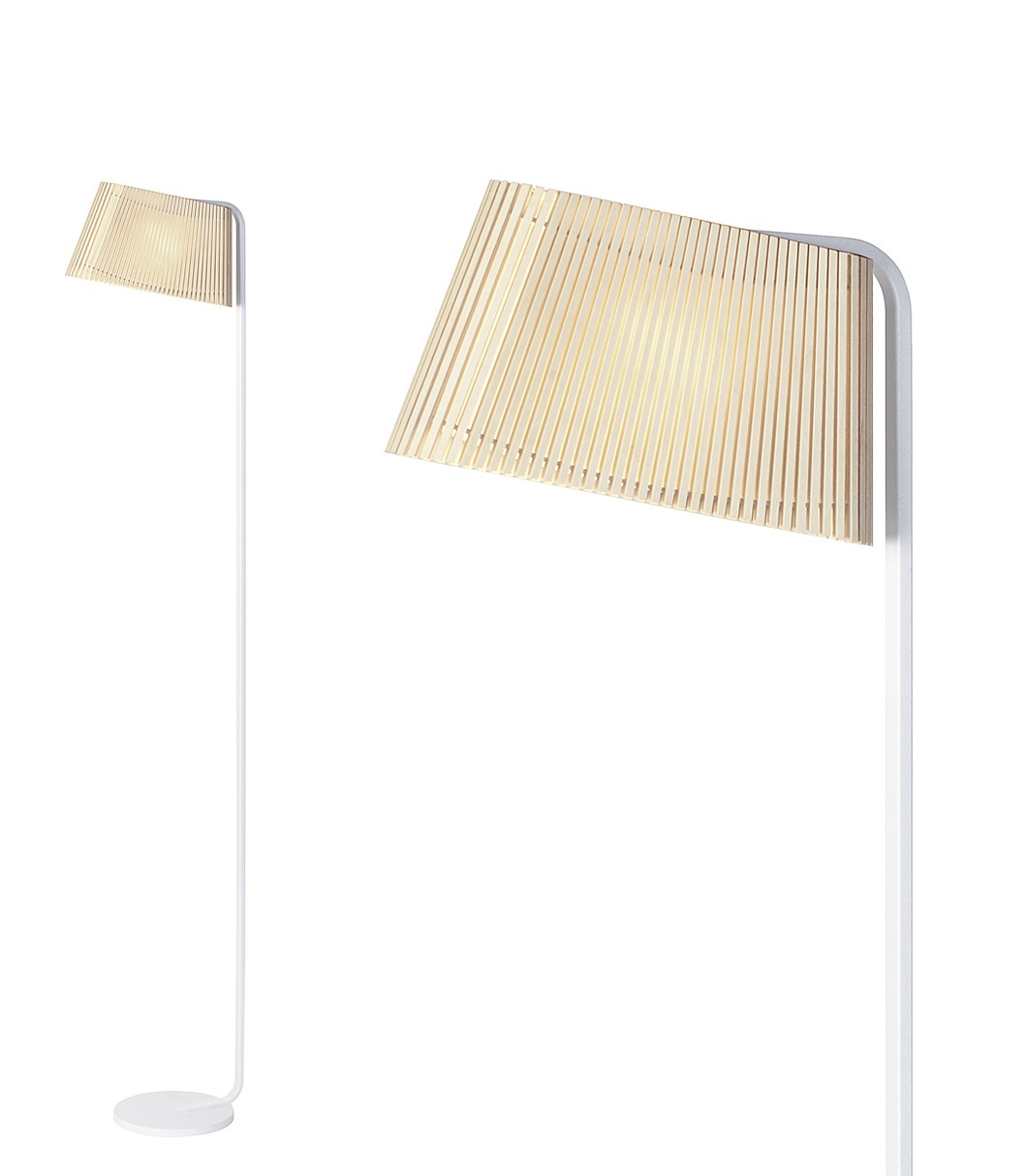 Owalo 7010 floor lamp color birch