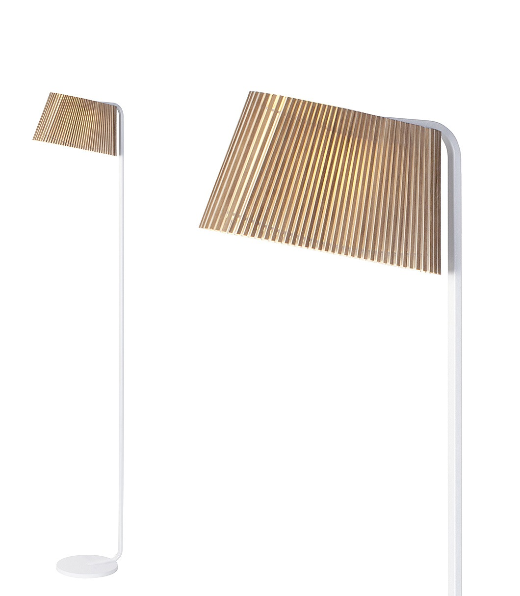 Owalo 7010 floor lamp color walnut