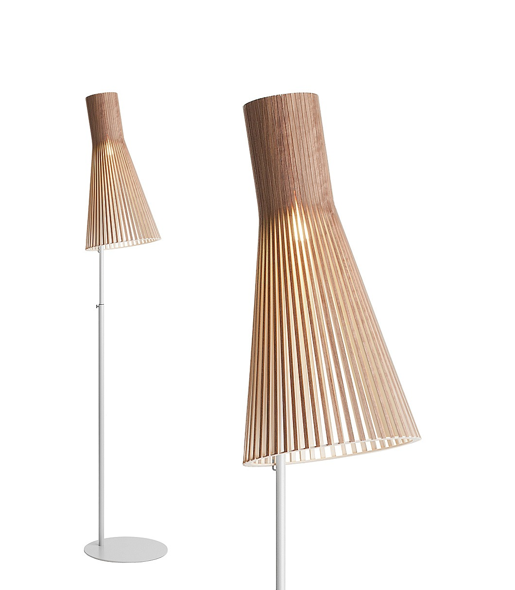 Secto 4210 floor lamp color walnut