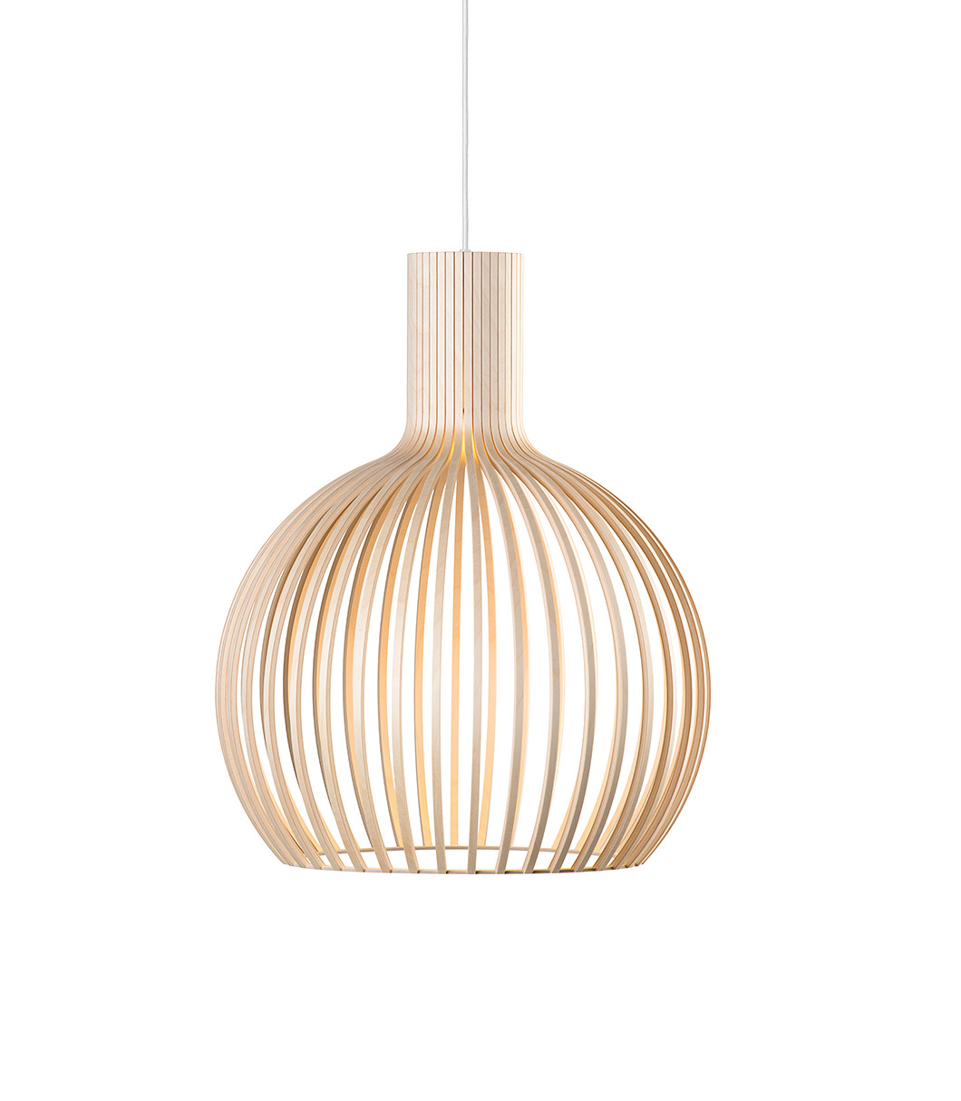 Octo Small 4241 Wooden Modern Pendant Lamp Secto Design