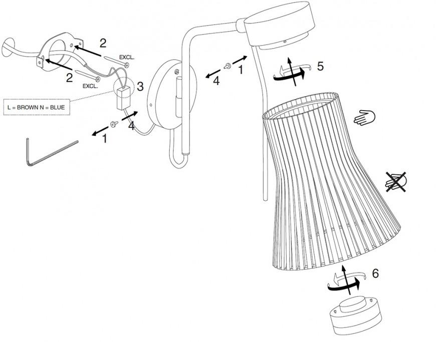 Petite 4630 Wooden Modern Wall Lamp Secto Design